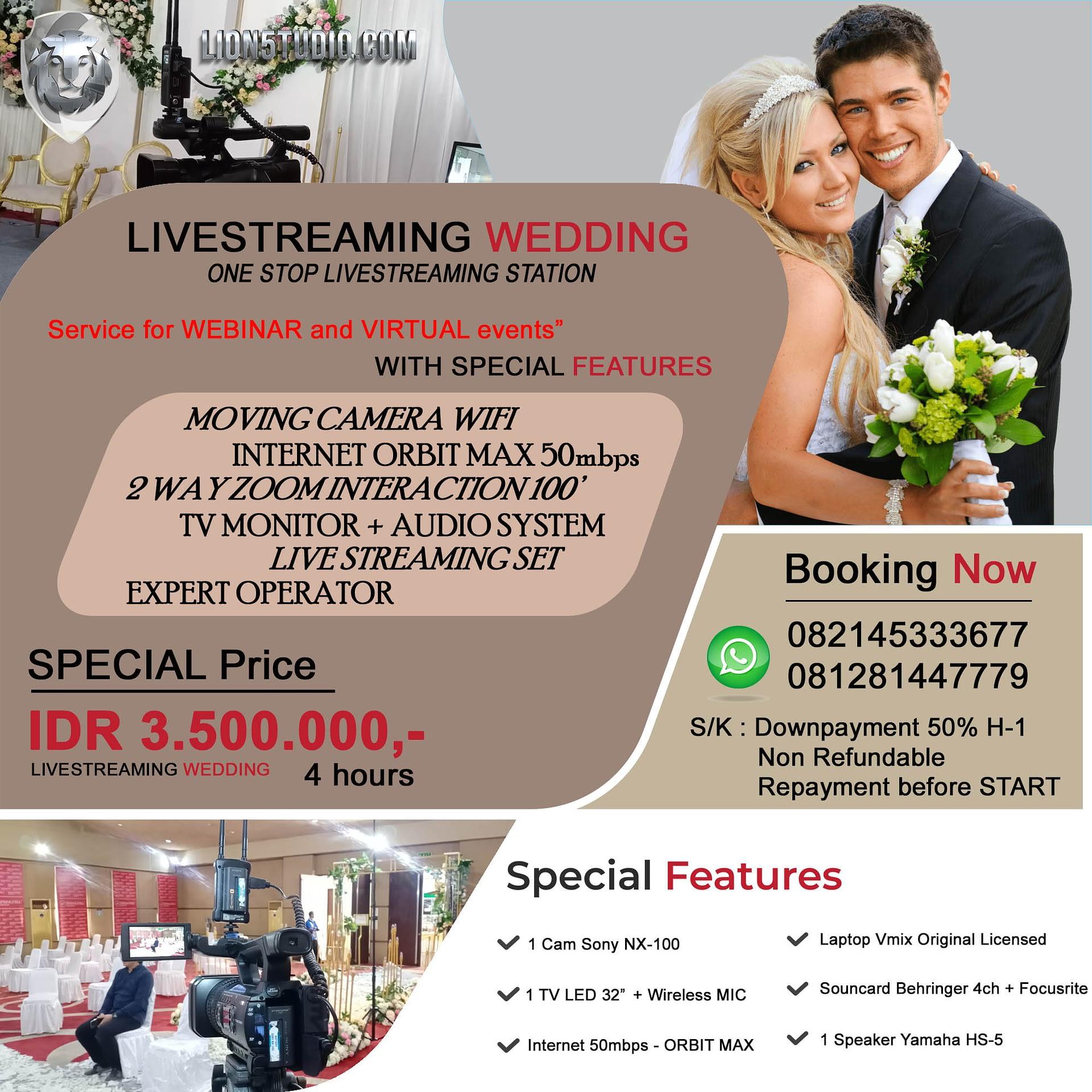 Pricelist Livestreaming WEDDING