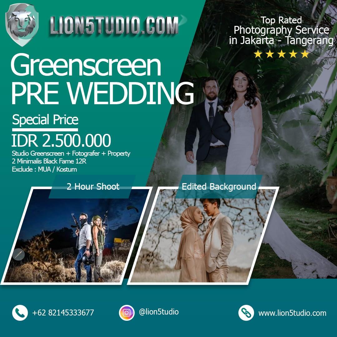 Prewedding Greenscreen Studio Murah Jakarta