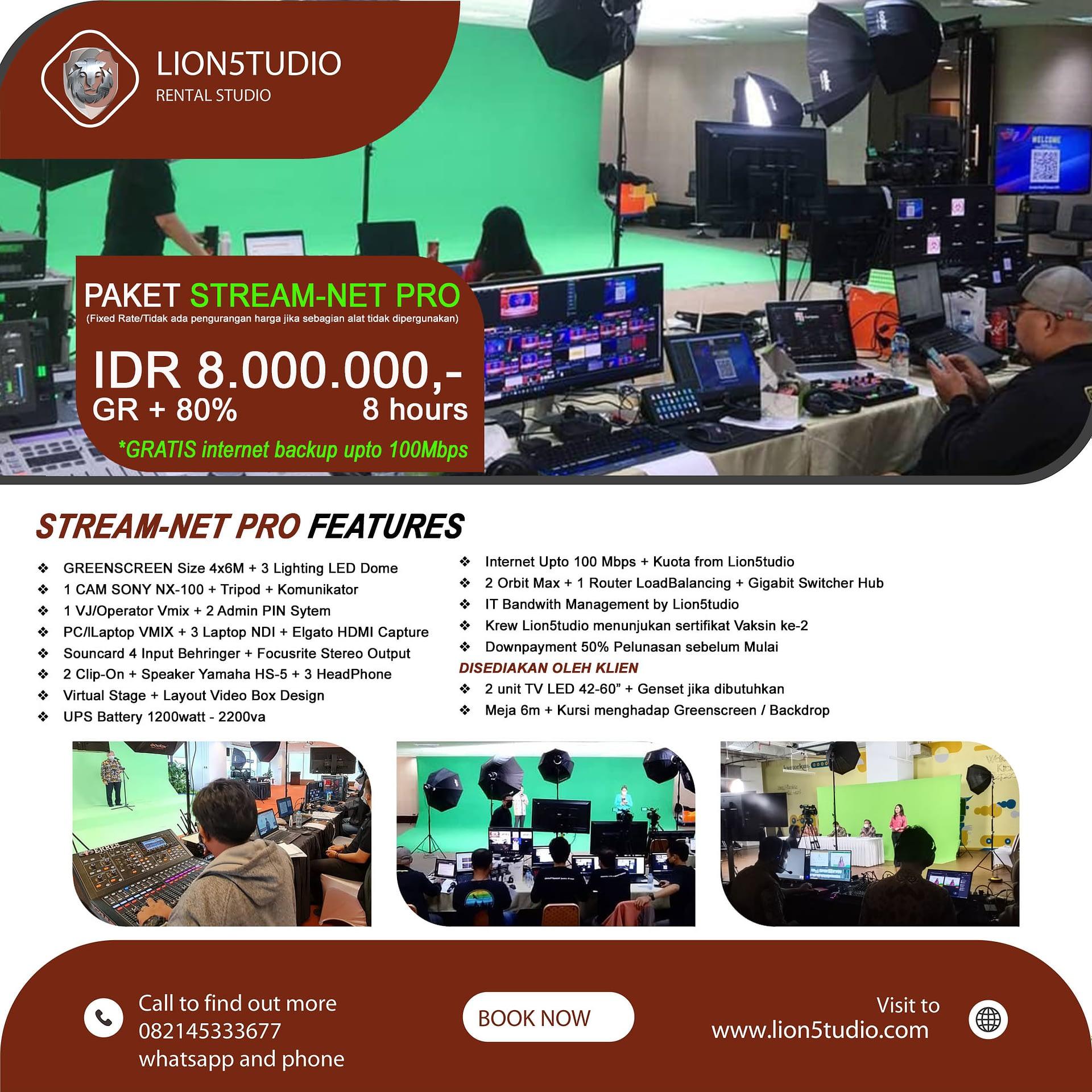 Jasa Livestreaming Webinar Murah Paket Stream-Net Pro