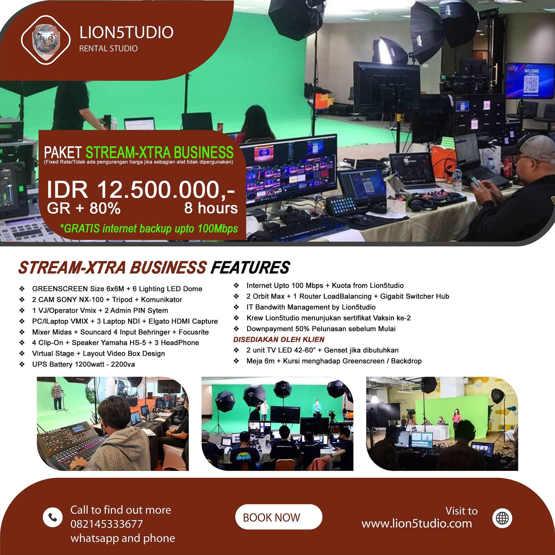 Jasa Livestreaming Webinar Murah Paket Stream-Xtra Business