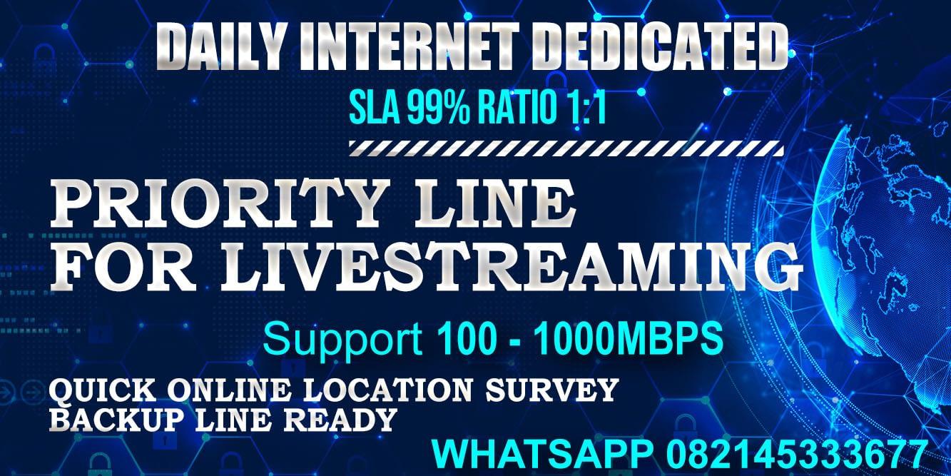 Pasang Sewa ISP Internet Dedicated Murah ke Hotel - Kantor - Studio Livestreaming