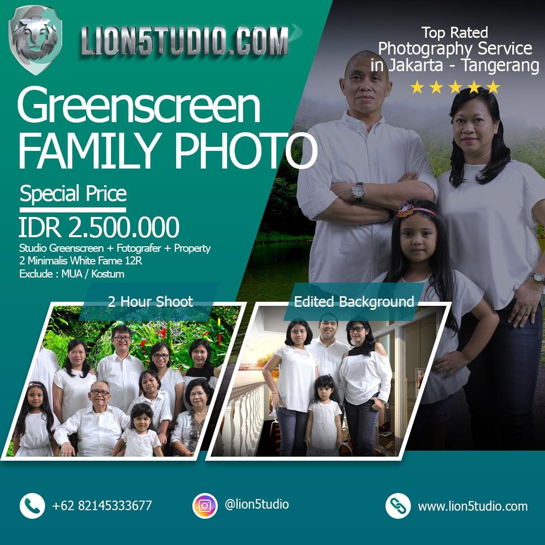 Foto Keluarga Studio Greenscreen Murah Jakarta - Tangerang