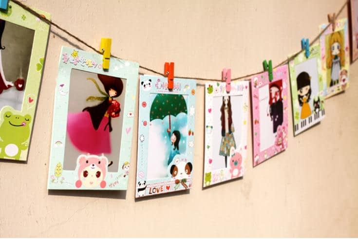 9pcs-6Inch-Creative-Gift-Home-Decoration-DIY-cartoon-Wall-Hanging-Paper-Photo-Frame-Wall-Picture-Album